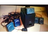 Cheap. PC home cinema system. Excellent quality. Collect today cheap
