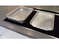 Aluminium roasting trays - two - catering quality