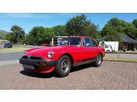 MGB GT Red 1979 SORN NO MOT Runner Project
