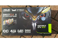 FOR SALE: ASUS GTX 970 STRIXX GRAPHICS CARD