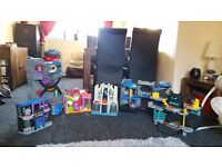 Fisher Price Imaginext Batcave and Matching Playsets