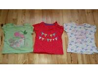 Set of 3 Mothercare Girls T-shirts size 6-9 Months