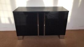 Black And Sikver Contemporary Storage Draw