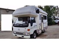 1999 RUST FREE TOYOTA TOYOACE 4 / 5 BERTH MOTORHOME AUTOMATIC FRESH IMPORT HIACE LOW LOW MILES 20K