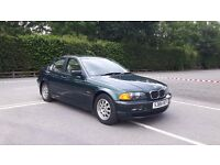 1999 BMW E46 318 saloon; 1.9 automatic; full leather and walnut trim; aircon; hpi clear; peer owned