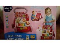 Vtech baby first steps baby walker (pink)