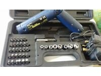 rechargeable screwdriver and bits