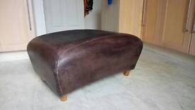 Dark brown leather foot stall
