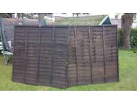 Fence panels x 2. 6 by 6