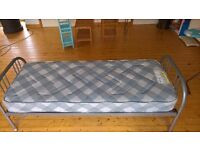 Metal frame Single Bed & Mattress