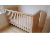 Mamas and Papas oak effect cotbed