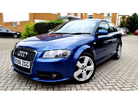 Blue Audi A3 2.0 T FSI S LINE SPECIAL EDITION Sport back Turbo Alloys Full Leather Fsh px