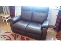Gorgeous & comfy leather electric reclining 2-seater sofa