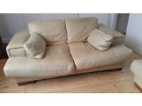 Furniture! Comfy leather sofa and armchair