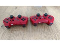 PS3 Controllers in Red, Work Perfectly but Battery has Discharged