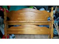 King size wooden bed frame solod