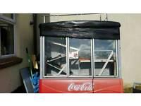 Large 3 door Coca Cola Fridge