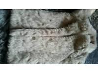 Girls fax fur coat