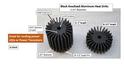 Circular Heat Sinks - Anodized Aluminum Great For Leds Power Transistors