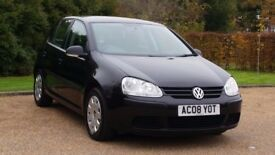 VW GOLF 1.9 S TDI 08PLATE 2008 3P/OWNER 108000 MILES FULL SERVICE HISTORY IN BLACK AIRCON MANUAL 5DR