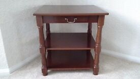 Mahogany colour occasional table
