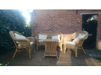 Wicker outdoor/conservatory furniture set