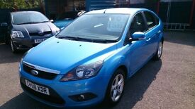 £400 OFF.. 2008 (58) FORD FOCUS 1.6 ZETEC 5 DOOR HATCH BLUE OCT MOT 107K + F/S/H ALLOYS CD R/C/L E/W