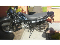 motorbike suzuki dr 125 sm swap cruiser or sell, price drop