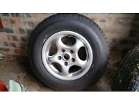 Bailey senator alloy wheel and tyre.