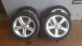 2 sets of 5x112 audi technik alloys (fit vw audi seat skoda)