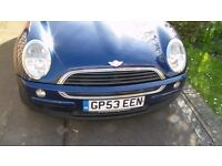 MINI ONE Hatchback, BLUE, 53-reg, 1.6l high spec. Bargain - can be viewed in Calne anytime
