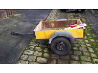 small box trailer, with tailgate lights