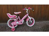 """14"""" Hello Kitty bike & stabilisers"""