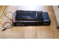 SteelSeries Apex M500, Gaming Keyboard, Mechanical, Cherry MX Red Backlit