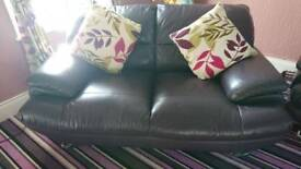 Purple 3 and 2 seater sofas