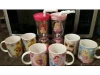 DISNEY PRINCESS/TINKERBELL/BARBIE CUPS