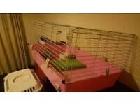 Medium guinea pig cage and accessories
