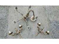 Antique brass style lighting fittings