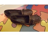 M&S Block Heel Fringe Loafers