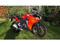 Honda CBR 125, 12 months Mot, low miles, free delivery & warranty