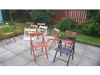 Folding household or Garden Chairs