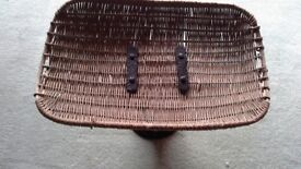 old fish scale with wicker basket