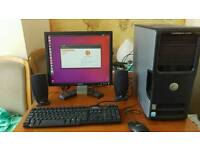 Dell workstation PC, complete with peripherals