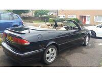 Saab Convertible 2002 Navy Blue