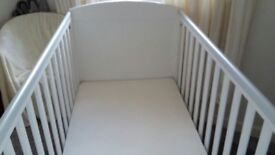 Immaculate Mothercare cot bed and mattress