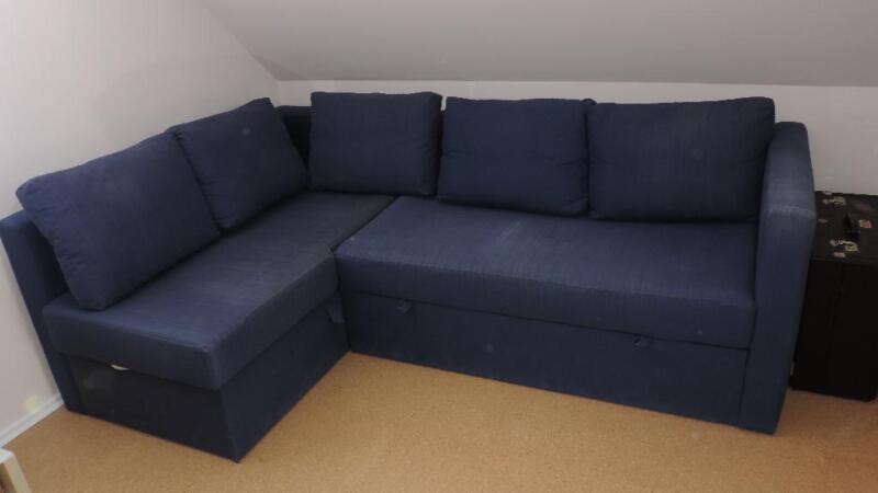 eilt schlafsofa ikea blau sofa ecksofa couch schlaffunktion in. Black Bedroom Furniture Sets. Home Design Ideas
