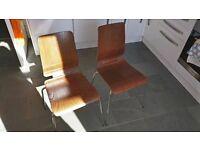 4 x Ikea Gilbert chairs