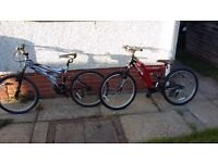 2 bikes for £40 1 bike in need of work, other in good condition as hardly used.