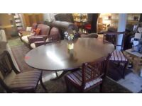 Traditional mahogany EXTENDING oval dining table and chairs ONLY £40 CHEAP local DELIVERY SK15 2PT