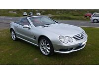 Mercedes SL55 2003, Silver with red leather, 20 inch Lorinser alloys, Quaiff ATB , MOTed